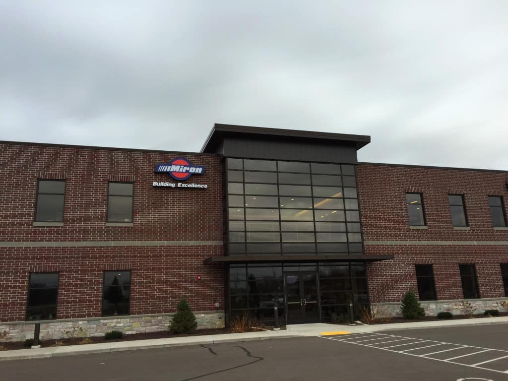 exterior photo of Miron's new Eau Claire office