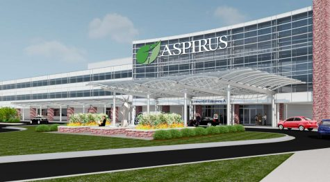 Aspirus Wausau Hospital West Entrance Rendering-2
