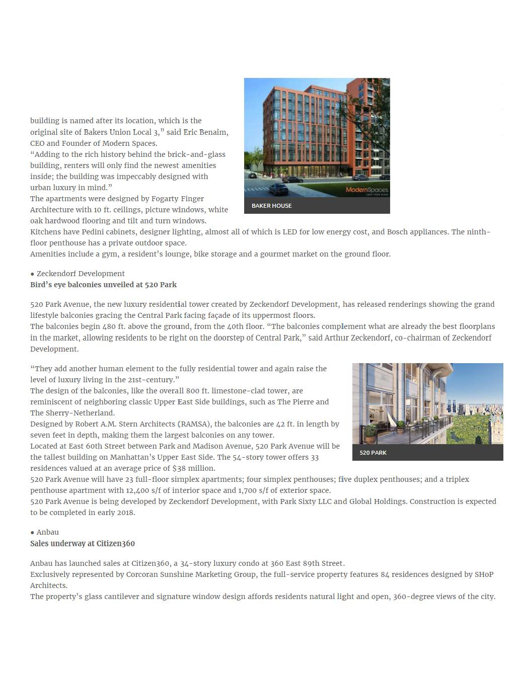 REW Online - NEW DEVELOPMENT, Baker House in LIC launches leasing, 520 Park unveils top floors - 02.26.16_Page_2