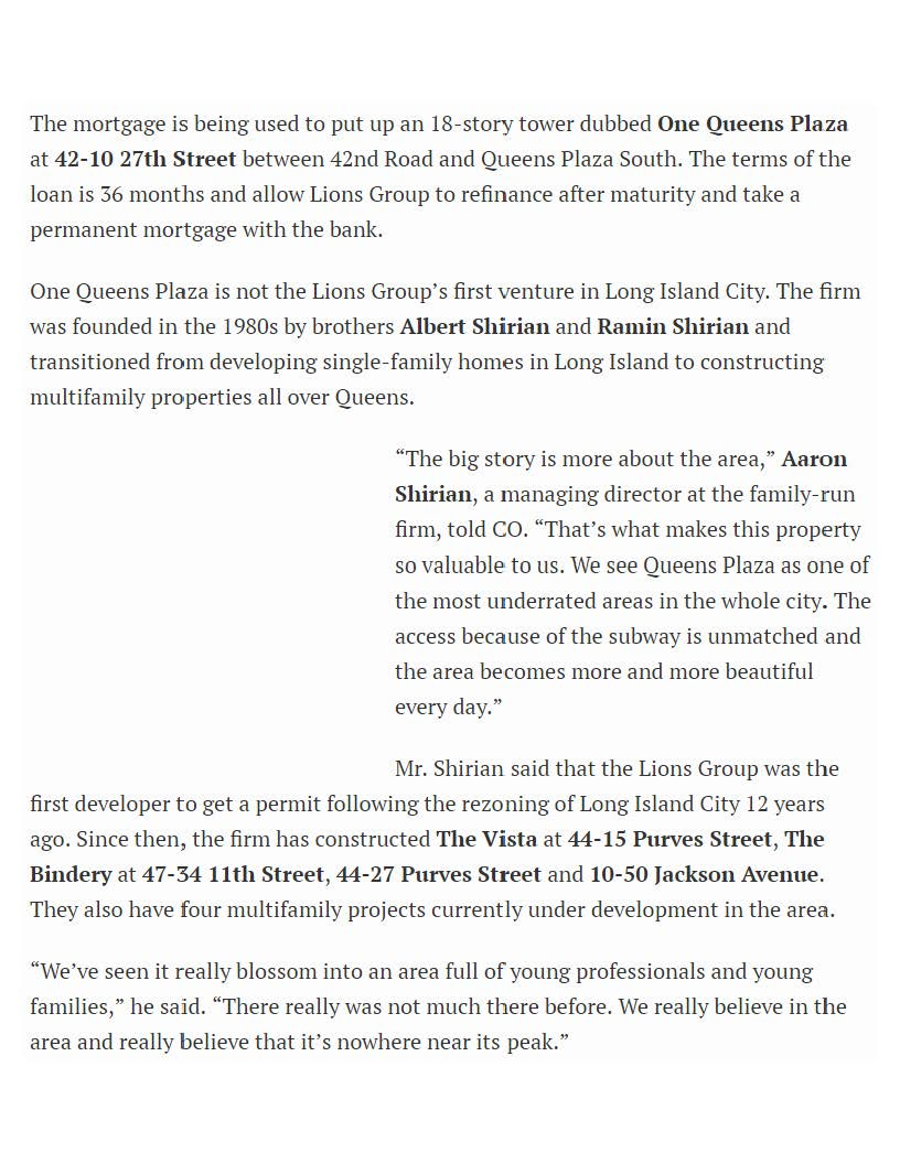 Commercial Observer Online - Bank Leumi Provides $36M for 18-Story LIC Resi Tower - 03.16.16 (1)_Page_2