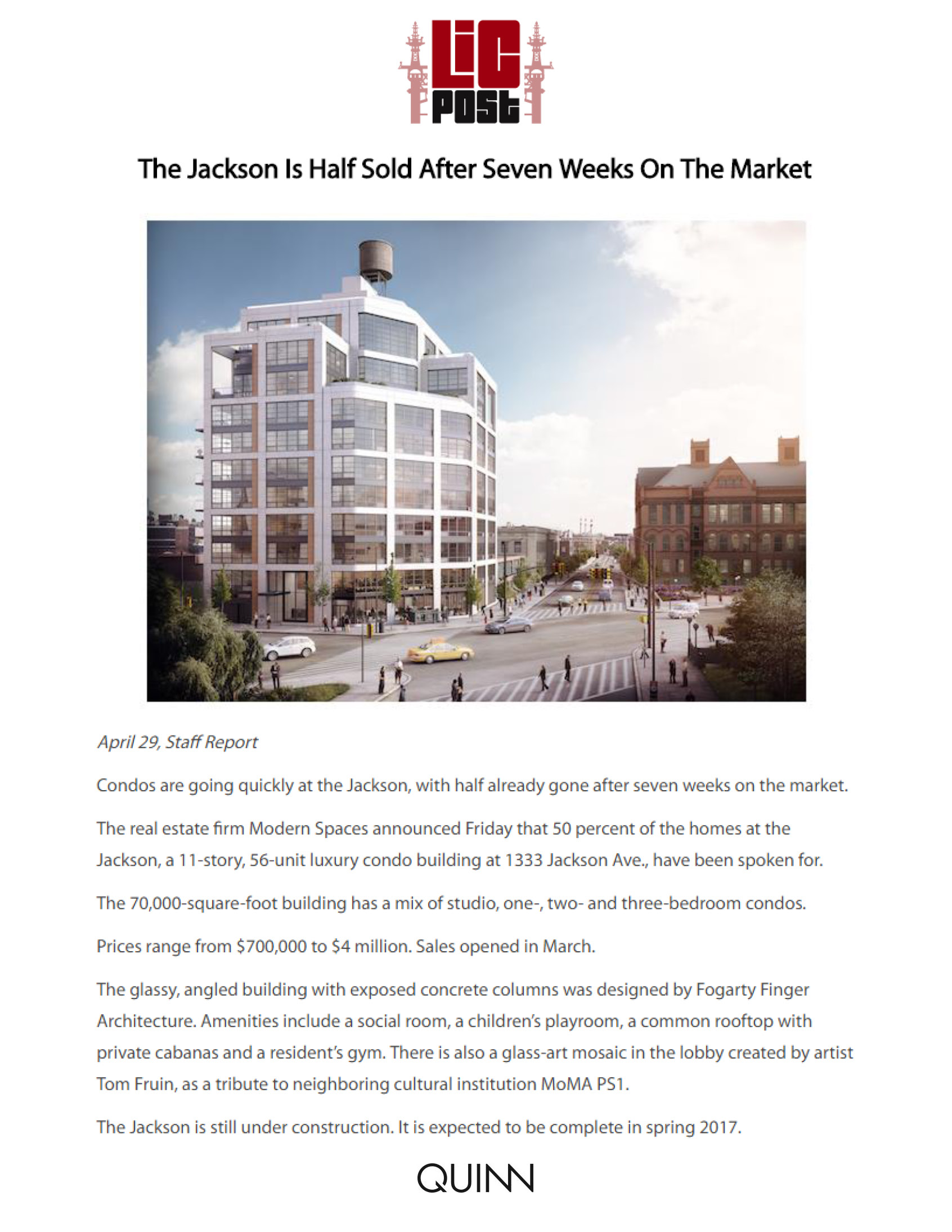 LIC Post - The Jackson Is Half Sold After Seven Weeks On The Market - 4.... (2)