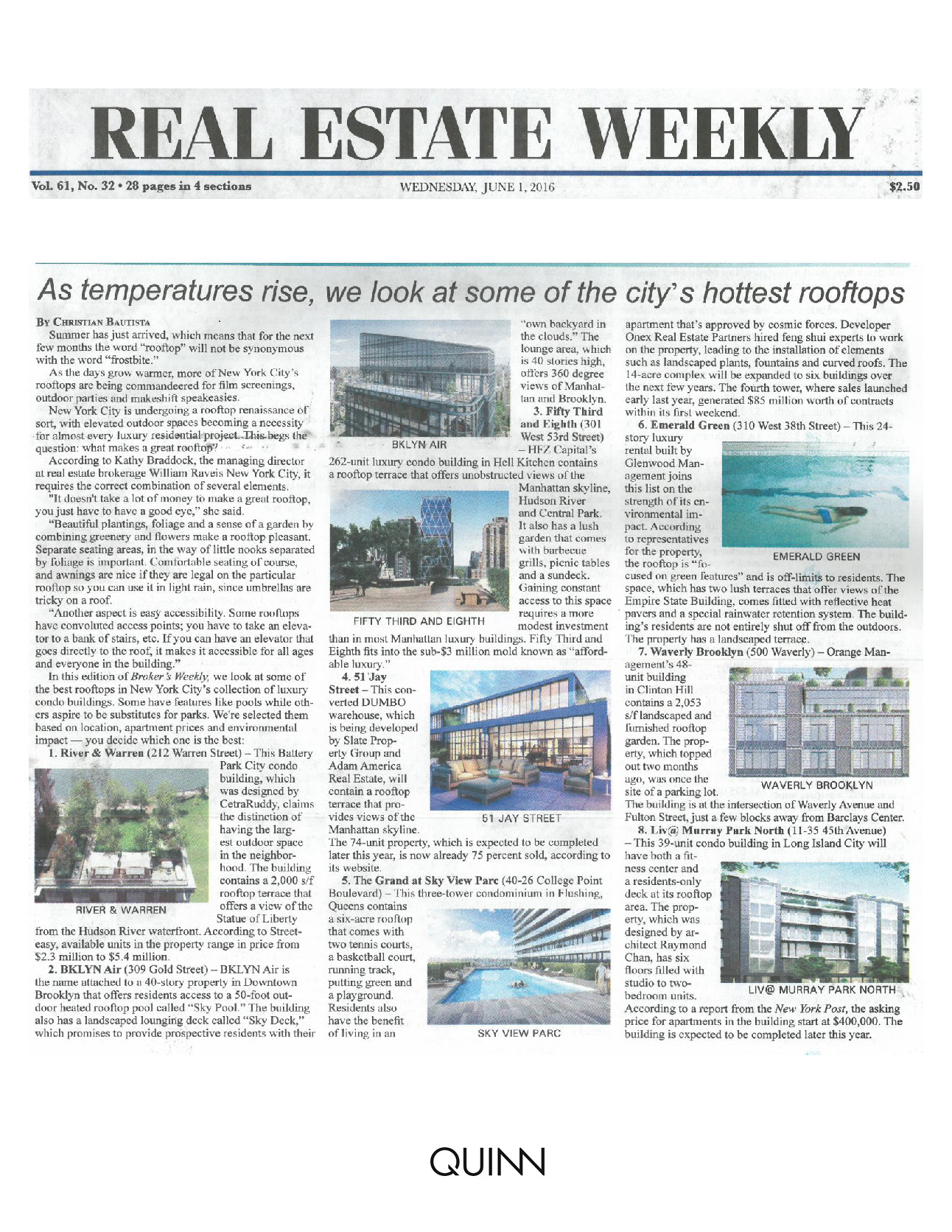 Real Estate Weekly - As temperatures rise, we look at some of the city's... (3)
