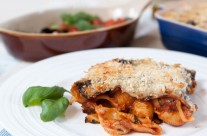 Aubergine & Pasta Bake