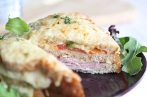 Avocado & tomato Croque Monsieur