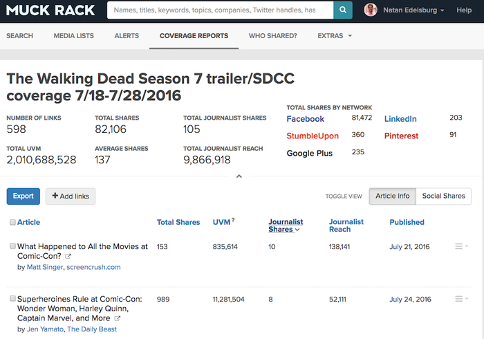 The new 'Walking Dead' trailer has a Journalist Reach of nearly 10 million