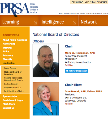 PRSA leadership on Election Day, PR and more