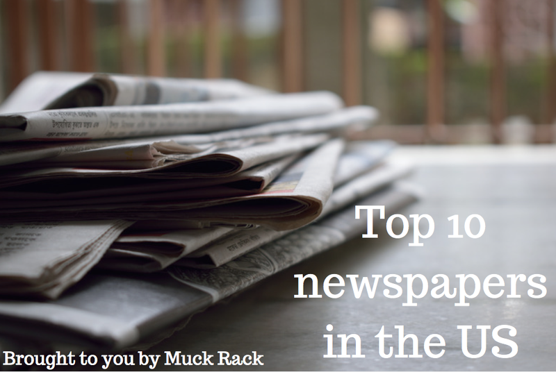 The top 10 newspaper publications in the US