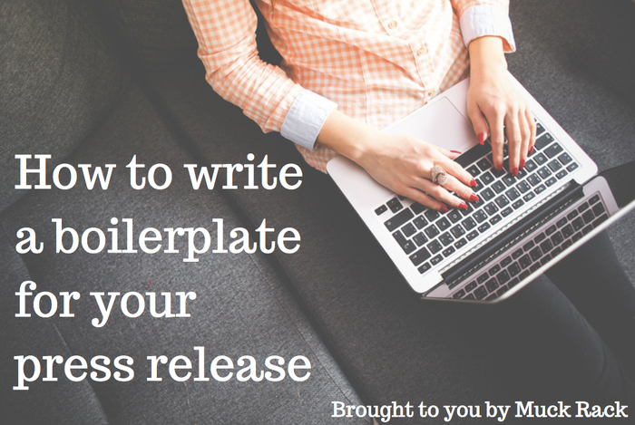 How to write a boilerplate for your press release