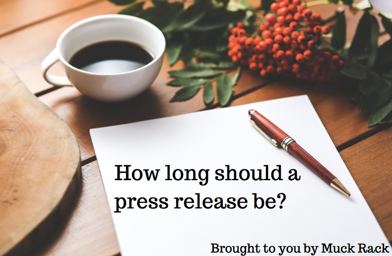 How long should a press release be?