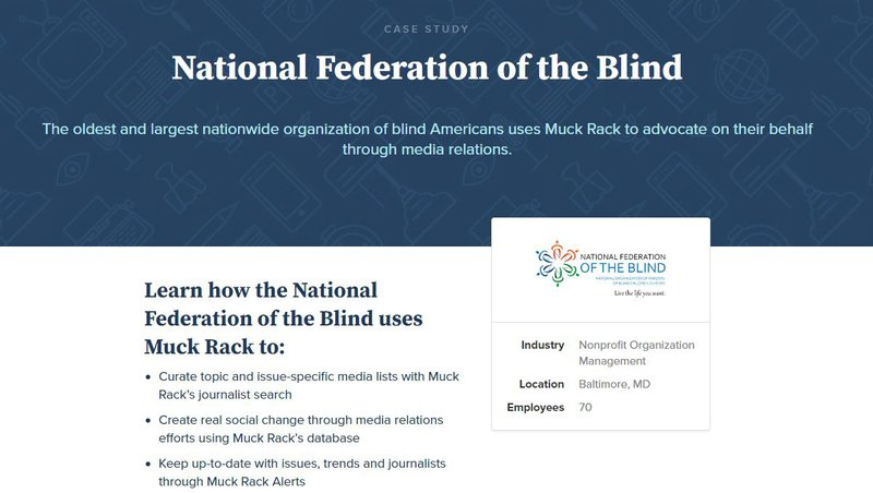 How the National Federation of the Blind uses Muck Rack to