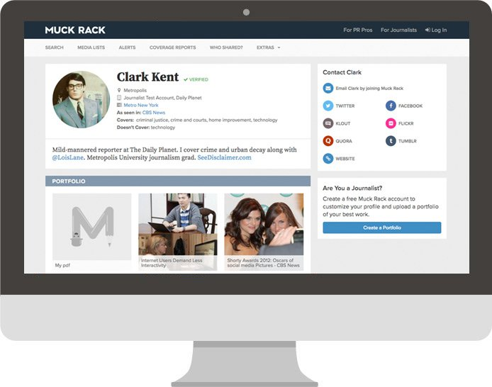 c4d90891a Why journalists need an online portfolio (And how to get a free one with  Muck Rack)