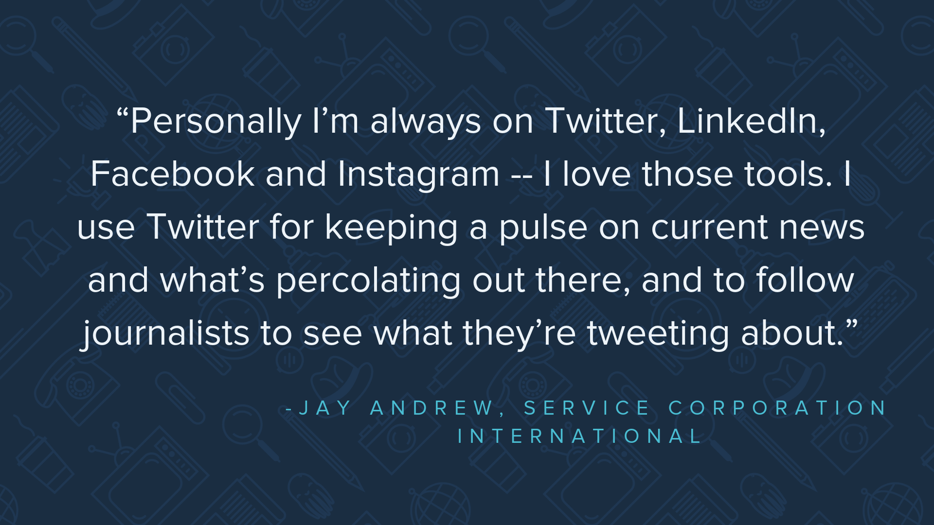 Day in the life: Get to know Jay Andrew, director of
