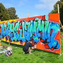 Photo Gallery: Graffiti artists tagging in the sunshine at Precita Park