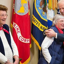 "Elderly ""Rosie the Riveters"" Visit the White House"
