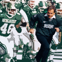 """A good coach could win there"": Nick Saban, Mark Dantonio and the 1995 Michigan State Spartans"