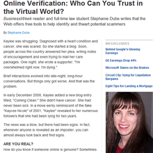 Online Verification: Who Can You Trust in the Virtual World?