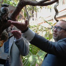 I went to the zoo with Jimmy Wales