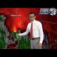Ari Sarsalari Tornado Coverage WAAY-TV 4/28/14