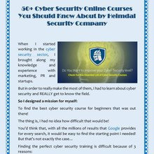 50+ Cyber Security Online Courses You Should Know About by Heimdal Security Company