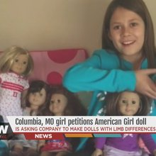 10-year-old Missouri girl petitions American Girl for doll with limb difference