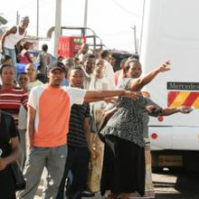 Stranded Durban bus passengers in protest