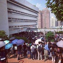 Hong Kong's daisy chain protesters