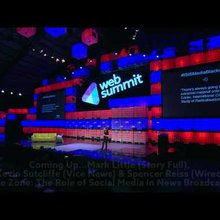 When War Goes Viral: Main stage at Web Summit 2014