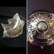 Badges save officers struck by bullets