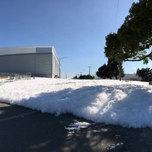 Blob of foam oozes into streets of California