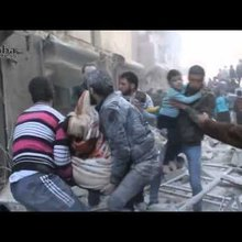 Using eyewitness video to construct the story of a barrel bomb