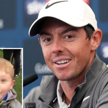 Watch as Rory McIlroy makes young golf fan's day with this touching gesture