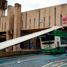 Bus driver, 21, charged after double-decker smashes into bridge in Edinburgh