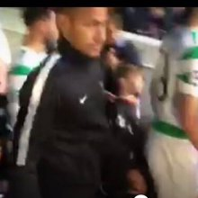 Watch young mascot's priceless reaction as he walks on pitch with Neymar