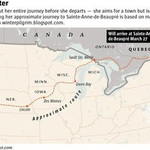 Walking from Denver to Quebec is just the latest pilgrimage for Ann Sieben
