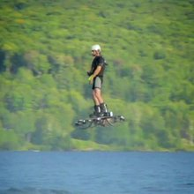 Watch a homemade hoverboard set a new world record