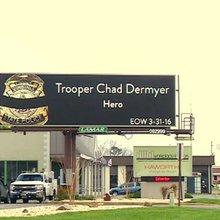 Lamar Advertising creates billboards honoring slain VSP Trooper Chad Dermyer