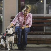 Service dog is helping crime victim with PTSD deal with her condition