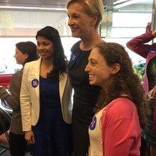 Planned Parenthood's Cecile Richards Stumps For Clinton In Stamford
