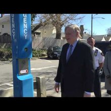 Mayor Martin Lights Up Latest Tool To Deter Crime In Stamford's Parks