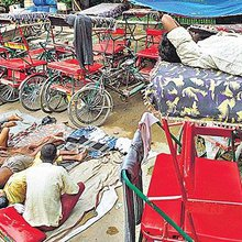When the wheels don't turn: Poverty stalks Delhi's rickshaw-pullers