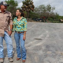 US family stranded on south side of border fence