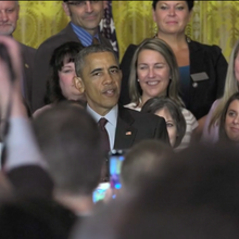 Newburgh teacher honored at White House