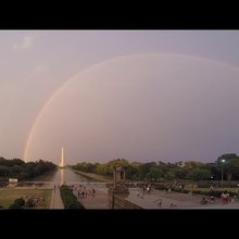 July 8, 2014 Storm Video with double rainbow