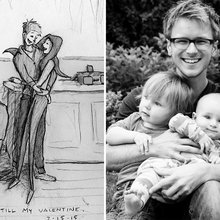 How do I love thee? See this man draw the ways with sweet photos of wife