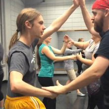 Workshop teaches actors about faux punches and stage stabs
