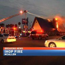 Blaze rips through South McAllen IHOP, restaurant a 'total loss'