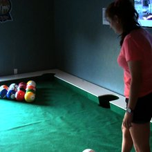 Snookball combines soccer and billiards for fun new sport