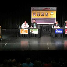 Incumbent candidate praised, laughed at during forum in Tory safe haven