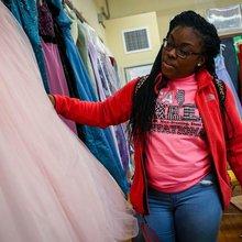 Teacher turns classroom into sparkling boutique, making prom dreams come true