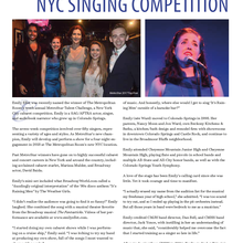 CMHS grad takes cabaret crown in NYC singing competition